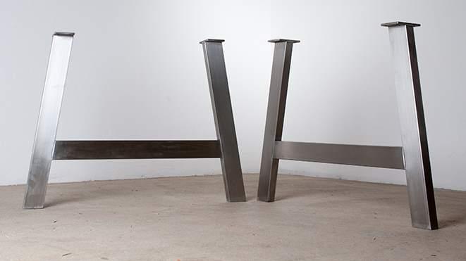edelstahl br cke tischgestell untergestell maintisch w rzburg esstisch maintisch. Black Bedroom Furniture Sets. Home Design Ideas