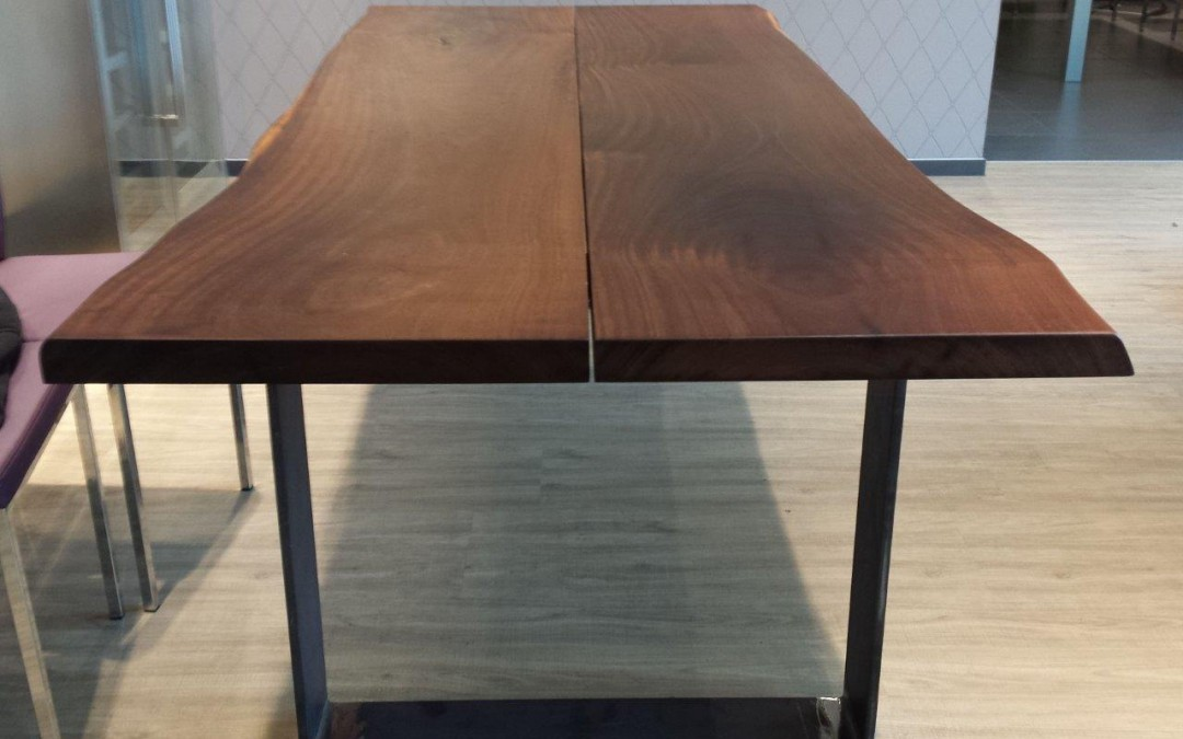 mainTisch Merbau Schreibtisch Esstisch Maßtisch Masstisch Schreiner Tisch bauen Stahlkufe Rahmengestell 2