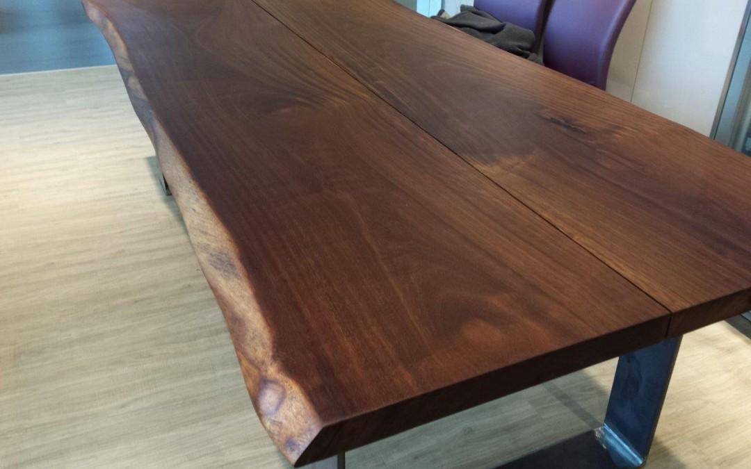 mainTisch Merbau Schreibtisch Esstisch Maßtisch Masstisch Schreiner Tisch bauen Stahlkufe Rahmengestell 4