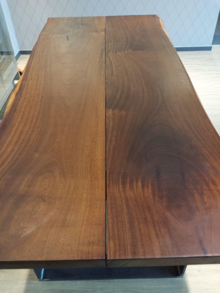 mainTisch Merbau Schreibtisch Esstisch Maßtisch Masstisch Schreiner Tisch bauen Stahlkufe Rahmengestell 5