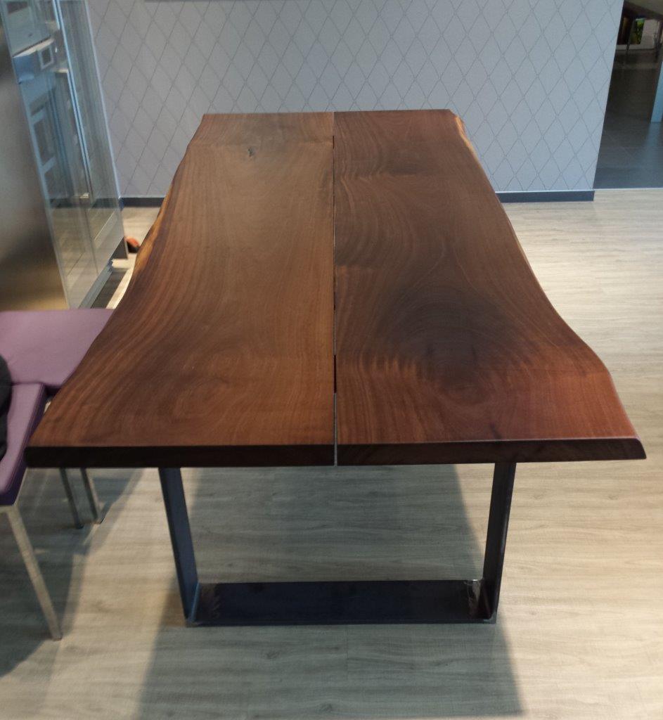 mainTisch Merbau Schreibtisch Esstisch Maßtisch Tisch Masstisch Schreiner Tisch bauen Stahlkufe Rahmengestell 1