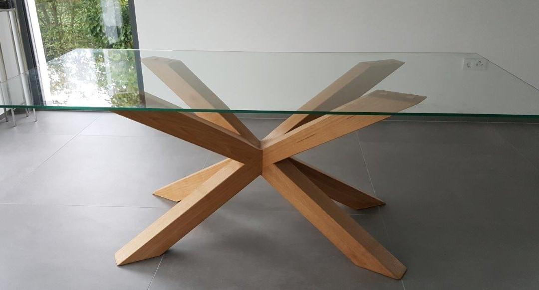 mainTisch Holz Eiche Esstisch Masstisch Glastisch Gestell 1