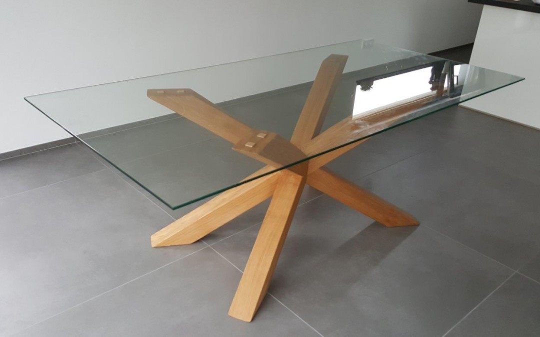 mainTisch Holz Eiche Esstisch Masstisch Glastisch Gestell 3