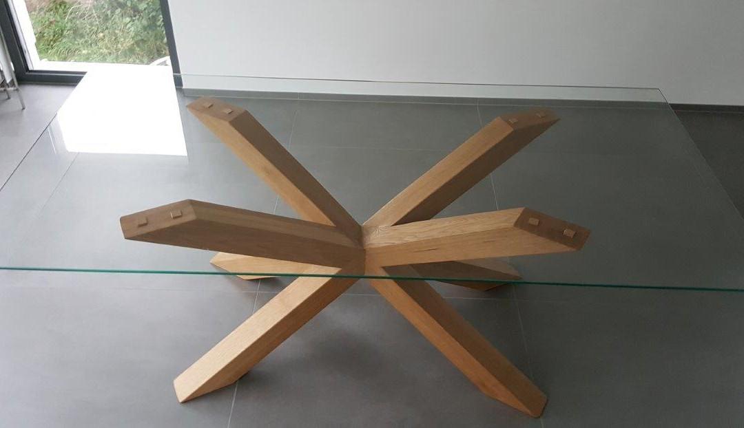 mainTisch Holz Eiche Esstisch Masstisch Glastisch Gestell 4