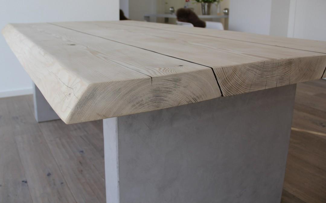 mainTisch-Beton-Tisch-Betontisch-massTisch-Schreibtisch-Esstisch-Kiefer Holz 6