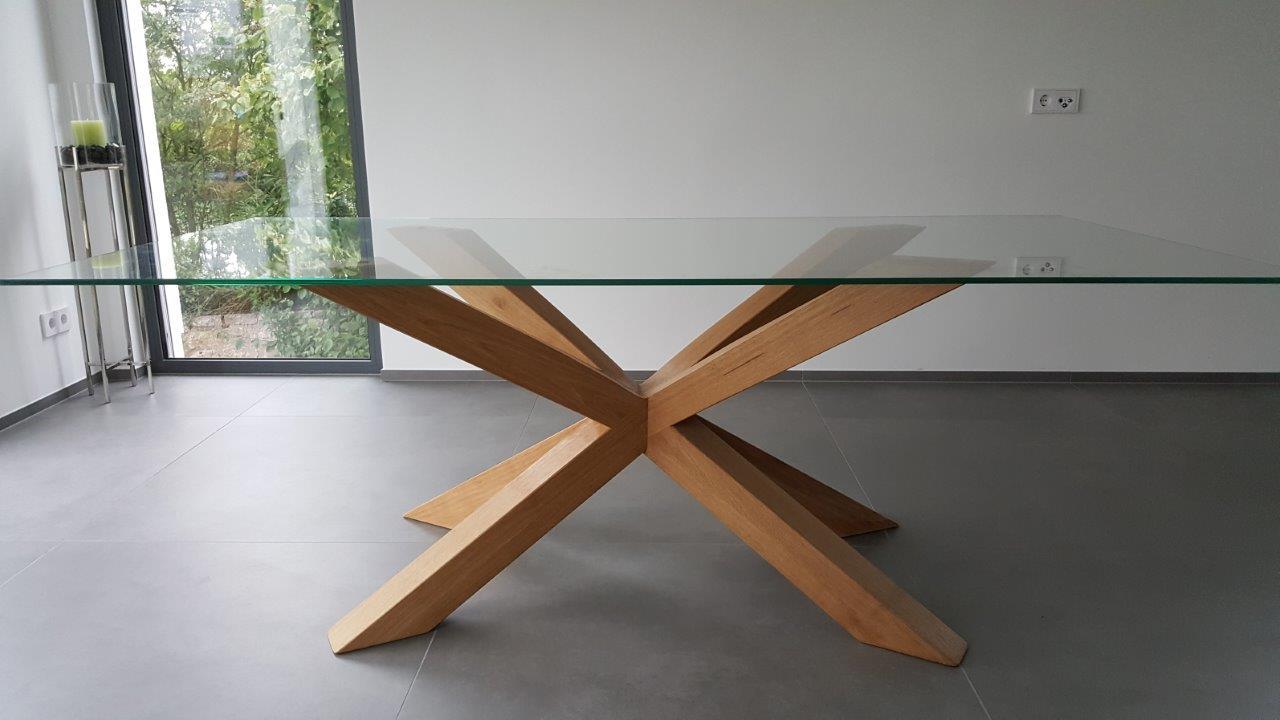 mainTisch Holz Eiche Esstisch Masstisch Glastisch Gestell 2