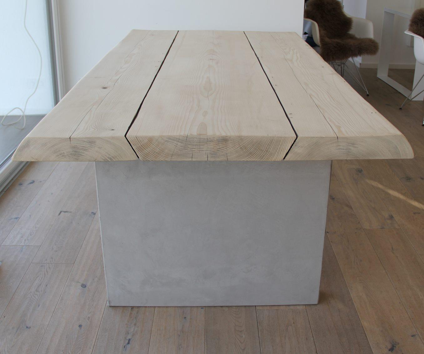 mainTisch-Beton-Tisch-Betontisch-massTisch-Schreibtisch-Esstisch-Kiefer Holz 2