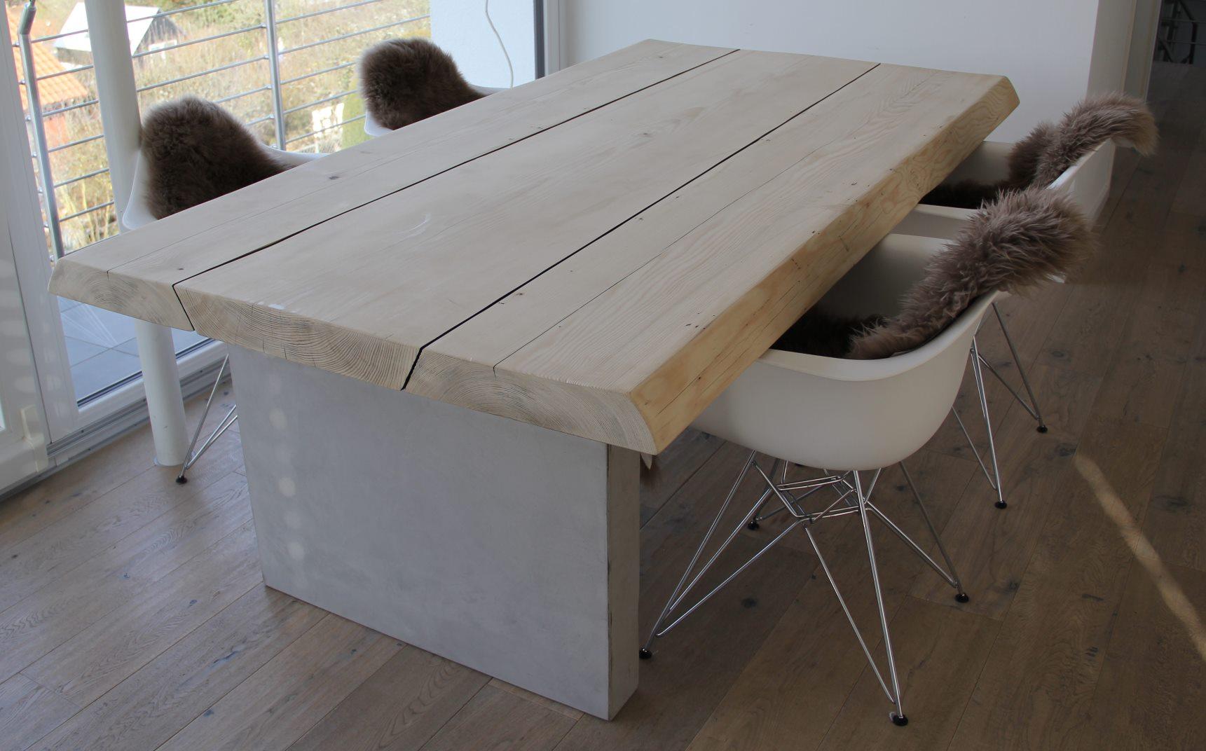 mainTisch-Beton-Tisch-Betontisch-massTisch-Schreibtisch-Esstisch-Kiefer Holz 3