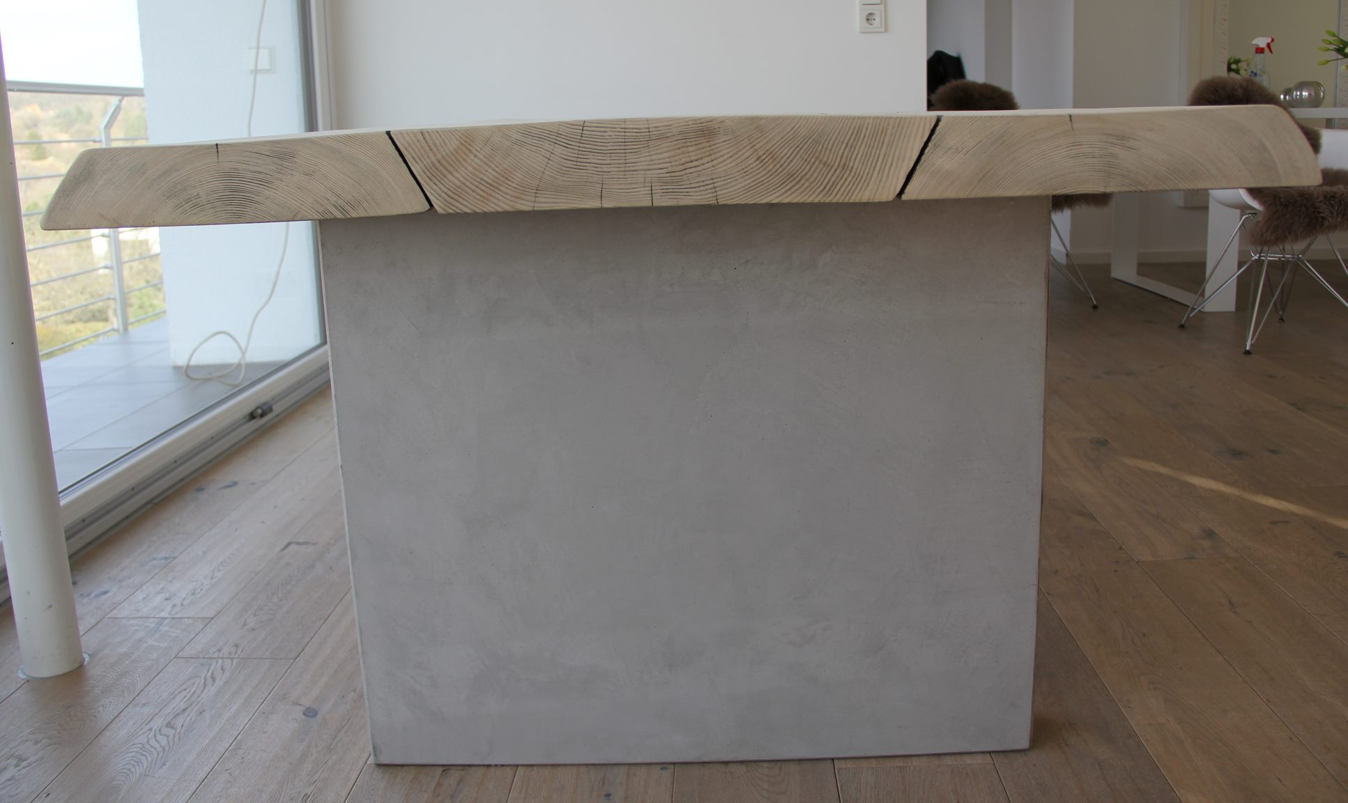 mainTisch-Beton-Tisch-Betontisch-massTisch-Schreibtisch-Esstisch-Kiefer Holz 4