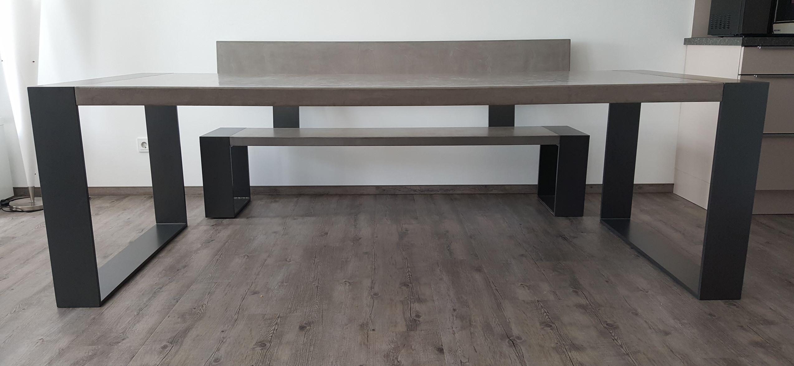 mainTisch Beton Tisch Betontist Sitzbank massTisch