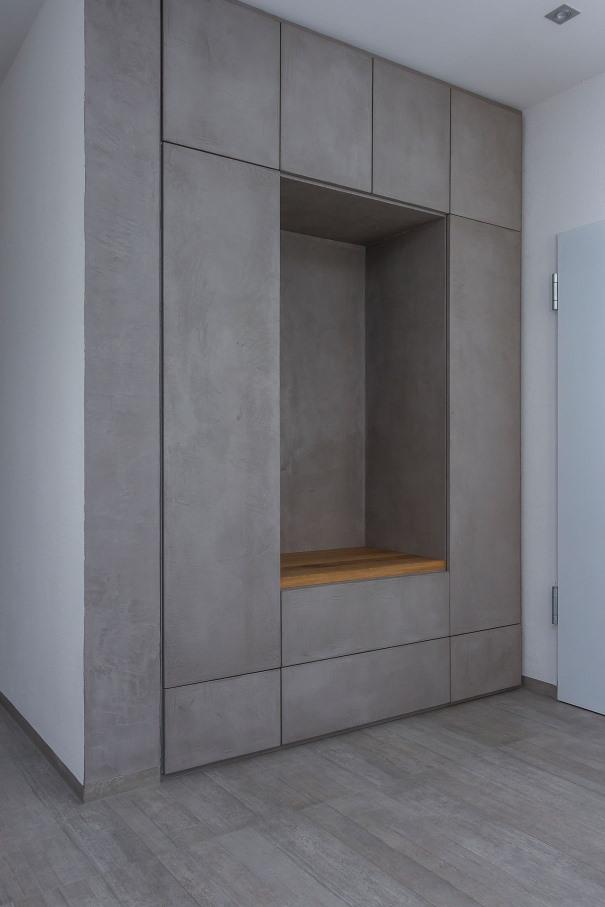 BmainTisch Einbauschrank Beton