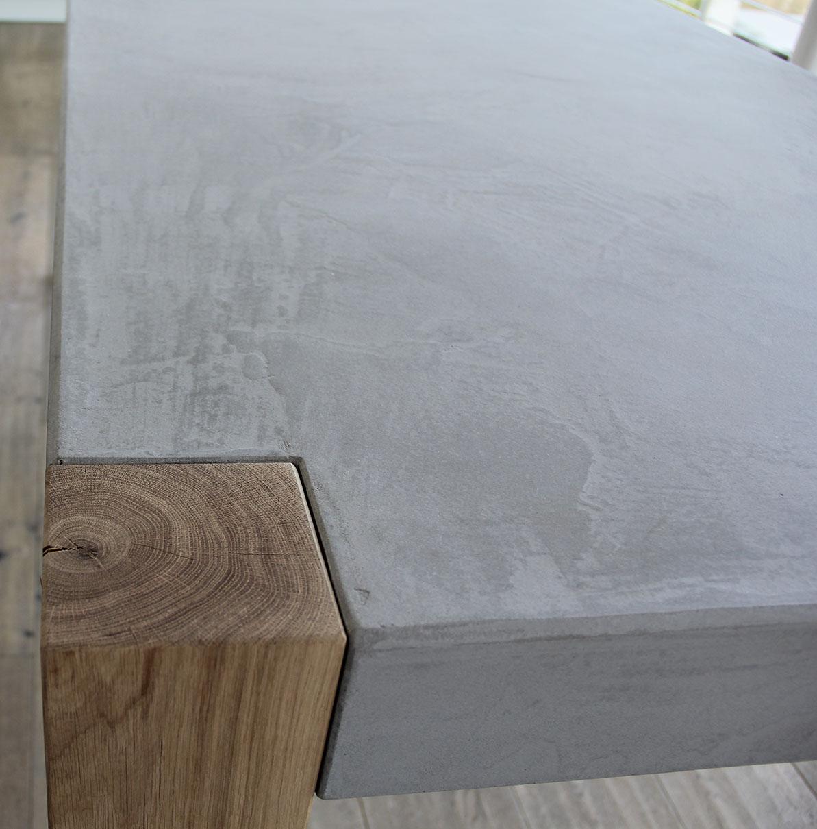 Masstisch Beton Spachtelbeton Esstisch Schreibtisch Betonboden Gussboden fugenlos Treppe grau Küche Bad Badezimmer Wohnzimmer Möbel mainTisch mainBeton mainGrill 17