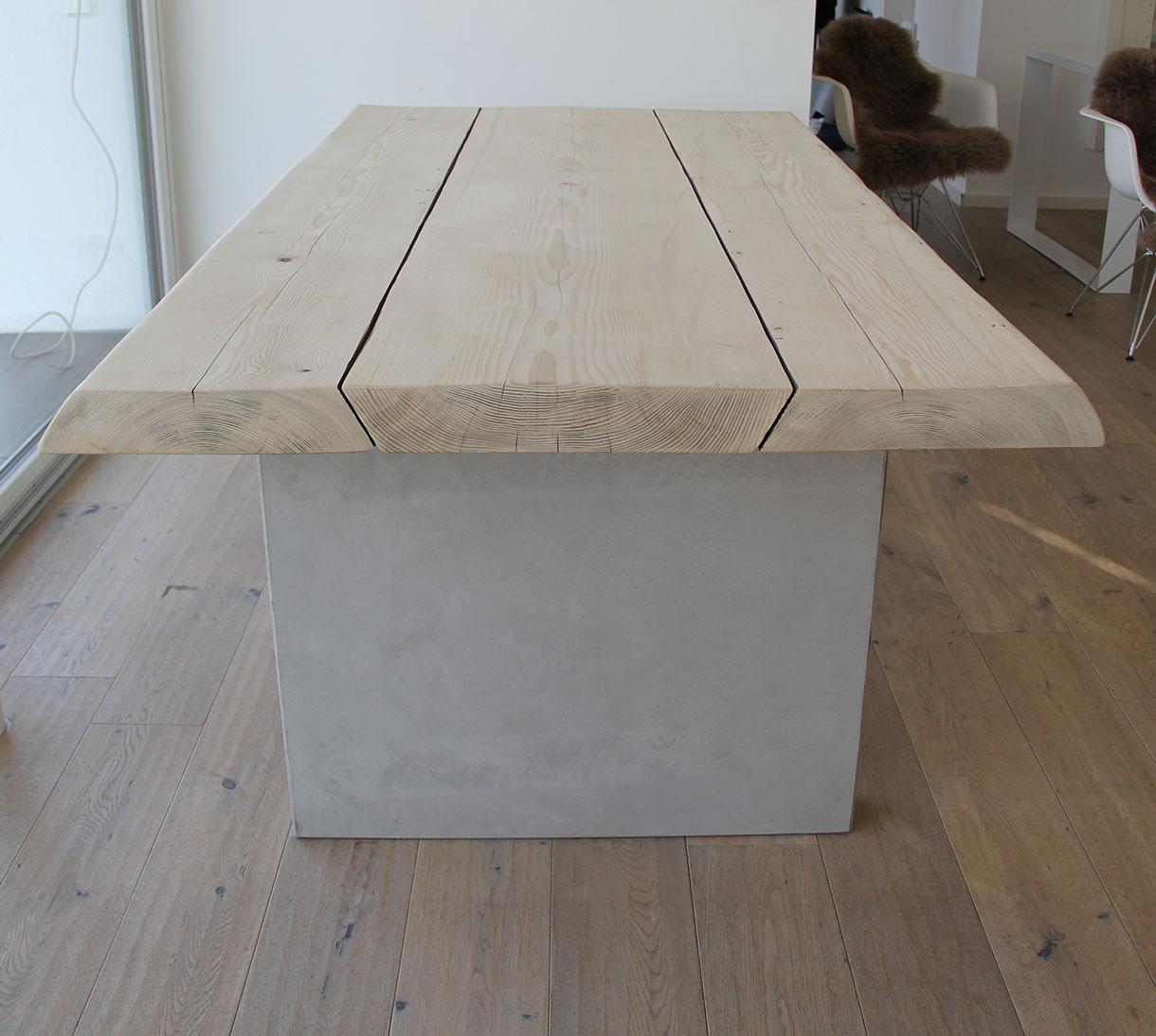 Masstisch Beton Spachtelbeton Esstisch Schreibtisch Betonboden Gussboden fugenlos Treppe grau Küche Bad Badezimmer Wohnzimmer Möbel mainTisch mainBeton mainGrill 6
