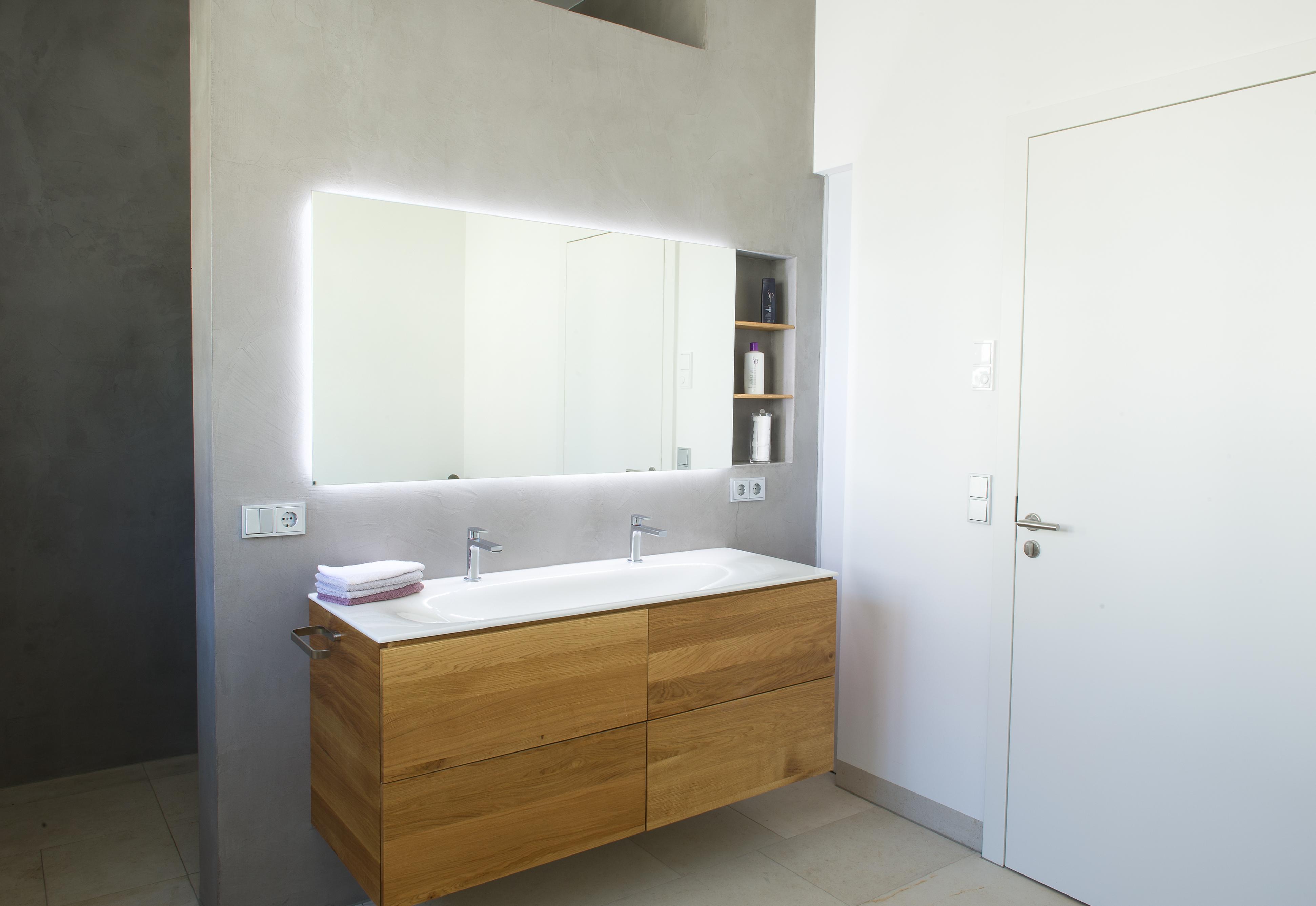 mainTisch mainBeton Badezimmer Dusche Beton Beton Cire fugenlos 10
