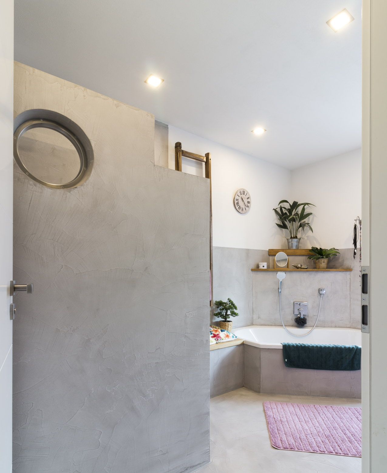 mainTisch mainBeton Badezimmer Dusche Beton Beton Cire fugenlos 11-1