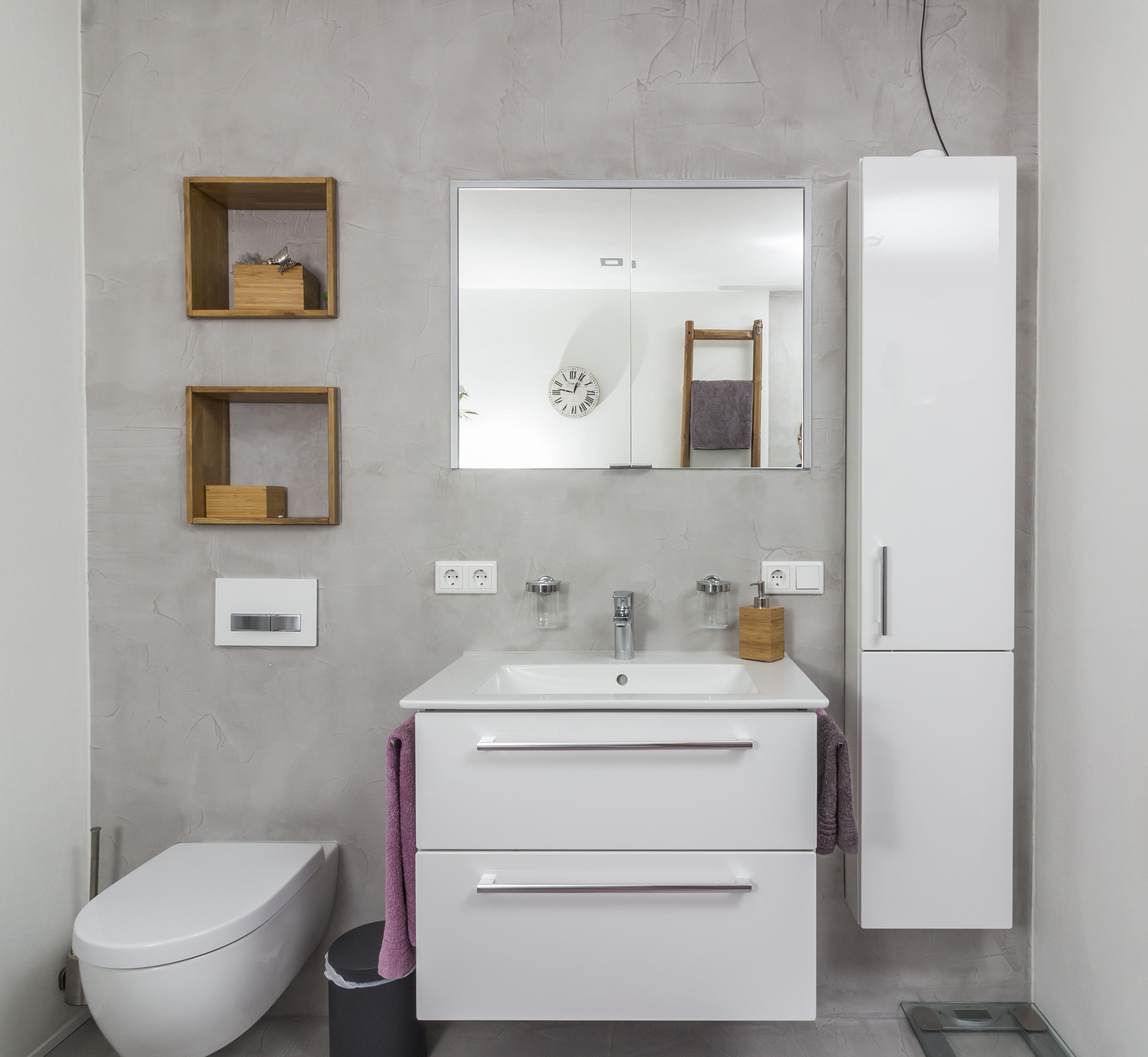 mainTisch mainBeton Badezimmer Dusche Beton Beton Cire fugenlos 8