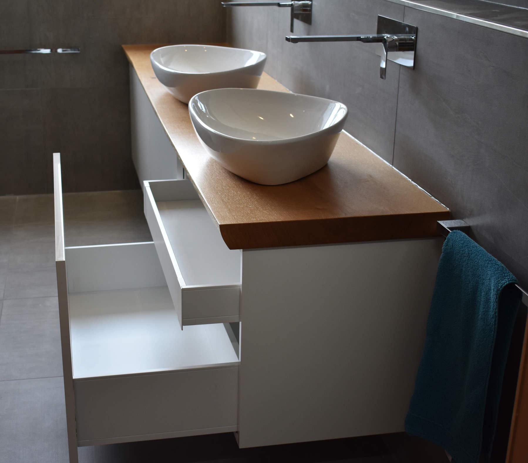 mainTisch Waschtisch Beton Eiche Schrank 5