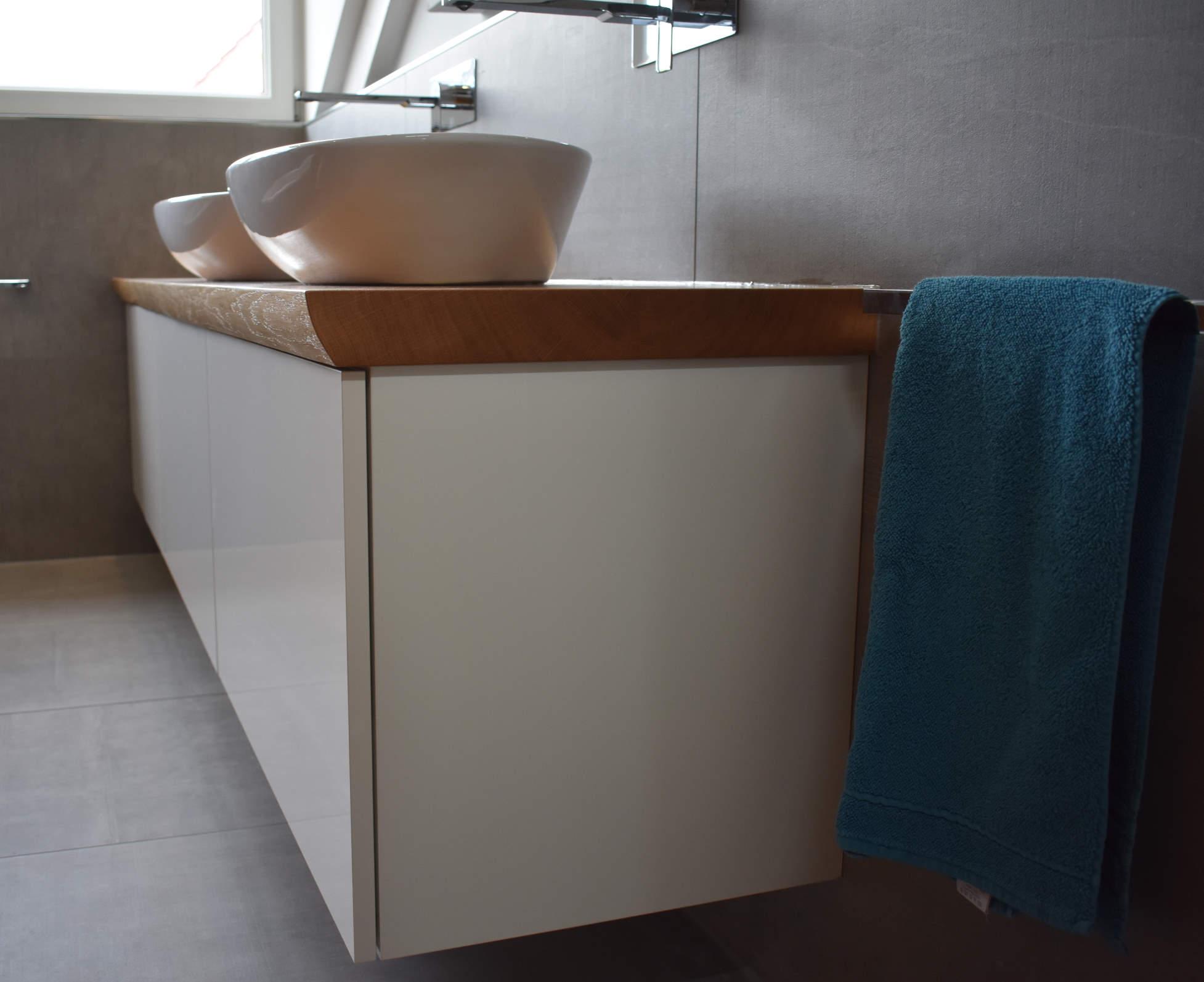 mainTisch Waschtisch Beton Eiche Schrank 6