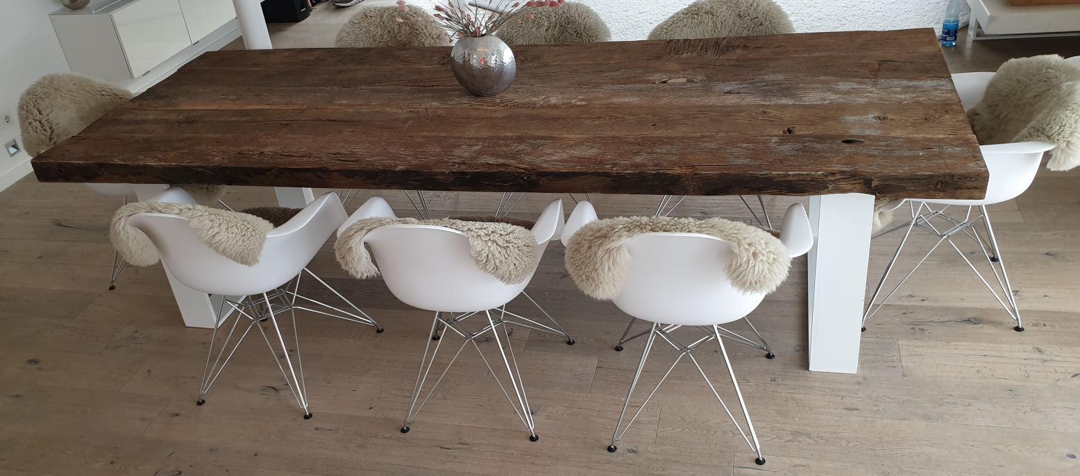 mainTisch Altholz Altholzplatte Altholztischplatte Eiche Tisch Tischplatte