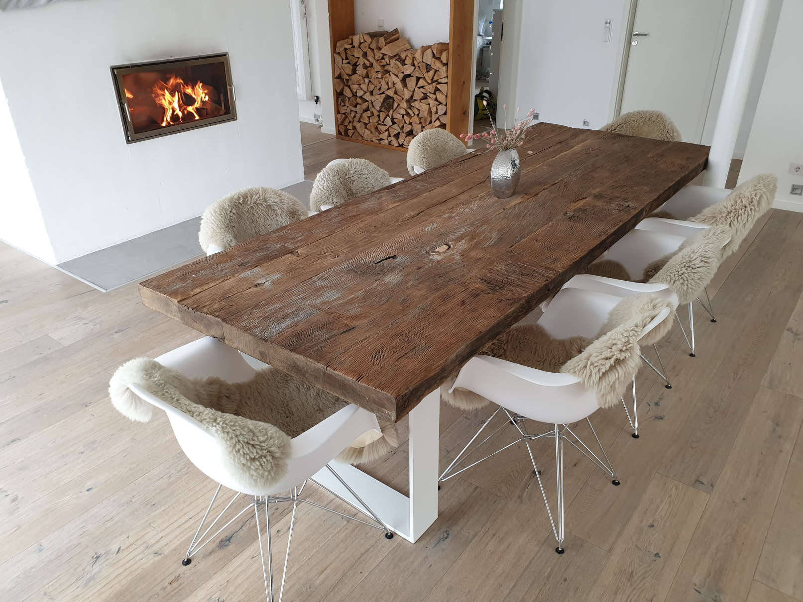 mainTisch Altholz Altholzplatte Altholztischplatte Eiche Tisch Tischplatte_2