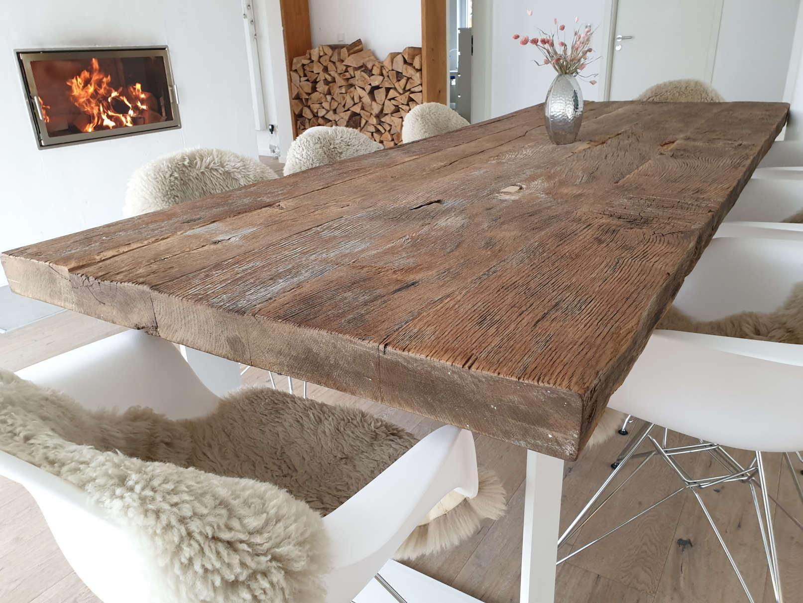 mainTisch Altholz Altholzplatte Altholztischplatte Eiche Tisch Tischplatte_3