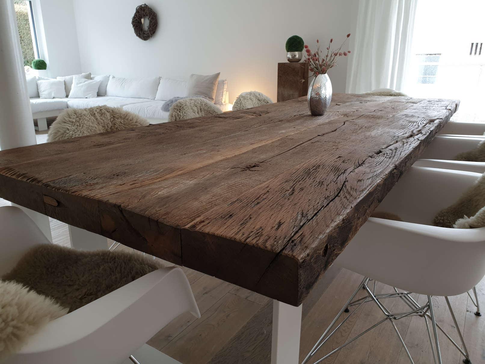 mainTisch Altholz Altholzplatte Altholztischplatte Eiche Tisch Tischplatte_5