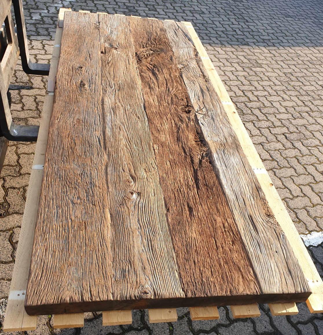 mainTisch Altholz Tischplatte Waschtisch Tischplatte gebürstet 1