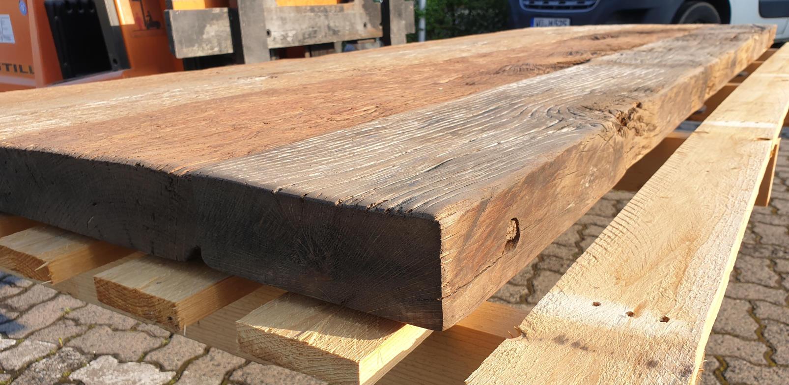 mainTisch Altholz Tischplatte Waschtisch Tischplatte gebürstet 2