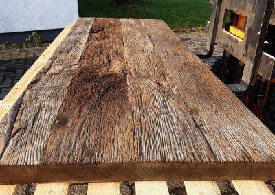 mainTisch Altholz Tischplatte Waschtisch Tischplatte gebürstet 3