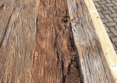 mainTisch Altholz Tischplatte Waschtisch Tischplatte gebürstet 4